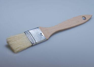 Flachpinsel mit Naturborsten 1cm