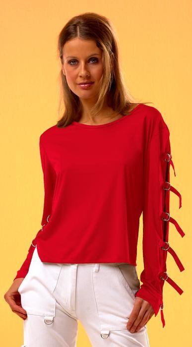 Shirt mit Schnallen, rot