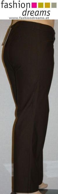 Laurie - Hose Emma braun - elastisch, breite Schenkel, gerades Bein, normal - 29815 Iris