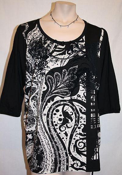 Shirt schwarz / creme