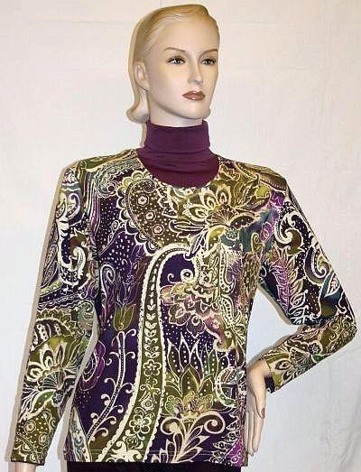 Shirt lila / grün