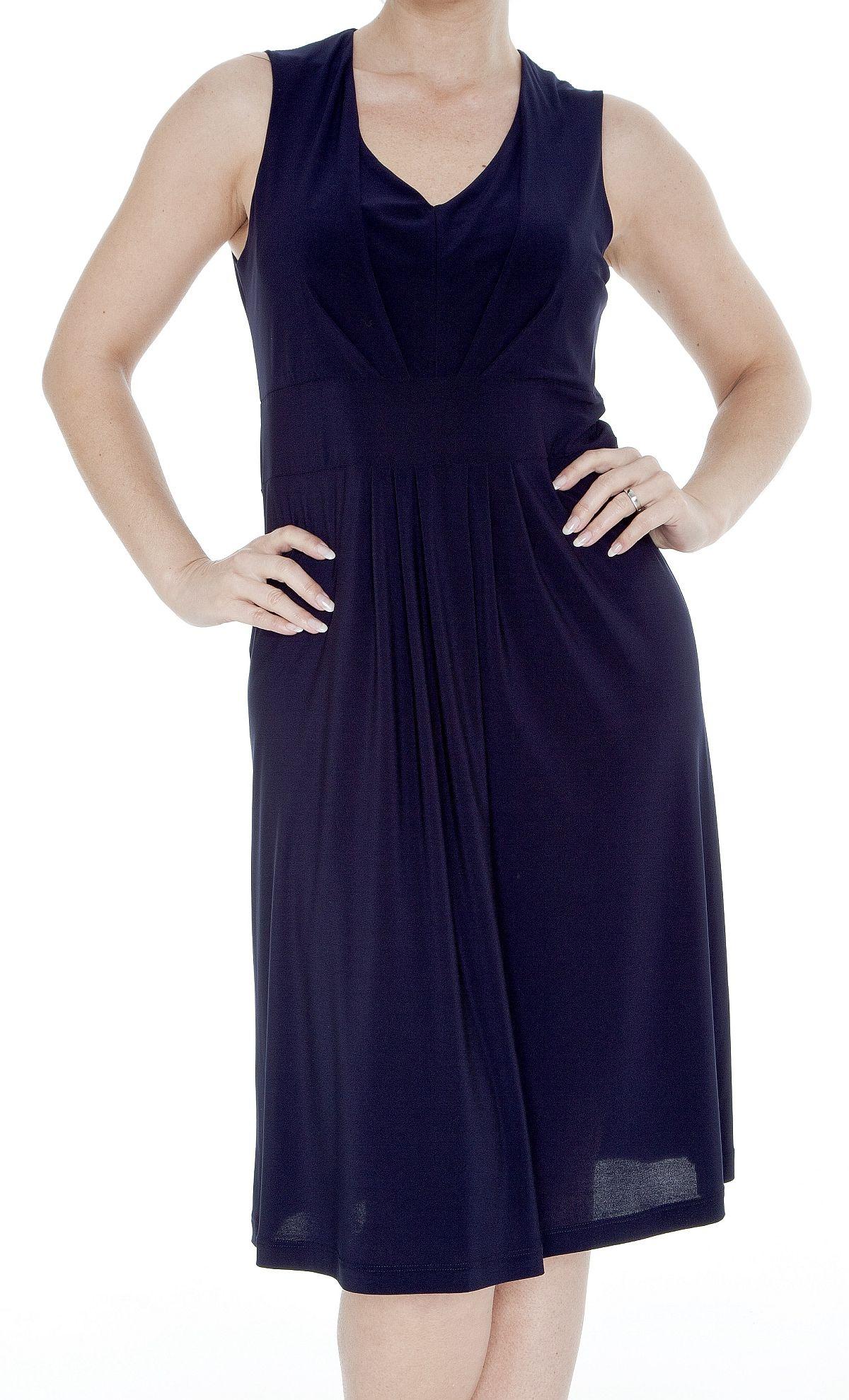 Das kleine Blaue - feminines Kleid in dunkelblau, Microfaser, ohne Arm