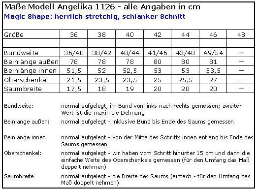 Magic Shape - hochelastische Stretchhose, 3/4 Hose, schmal - rot, Angelika 1126