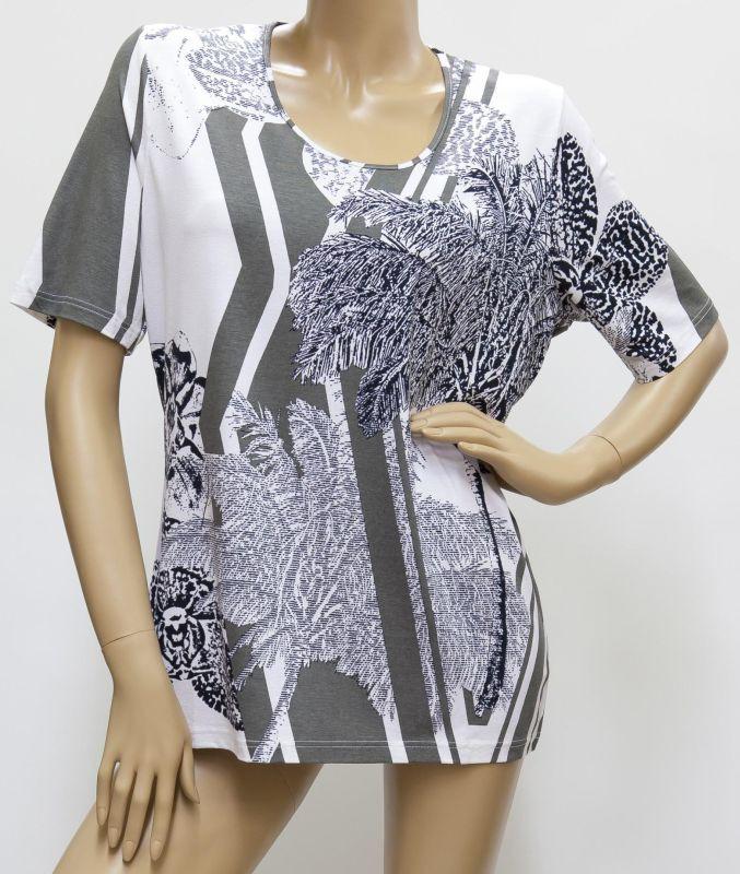 Shirt schwarz / weiß / grau