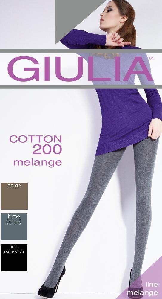 GIULIA - zart glänzende Strumpfhose Baumwolle, beige + grau + schwarz