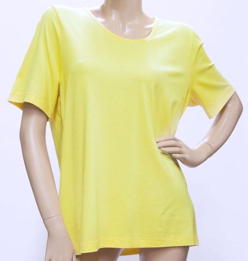 Shirt Viskose, Kurzarm - gelb, koralle, hellgrün + schwarz