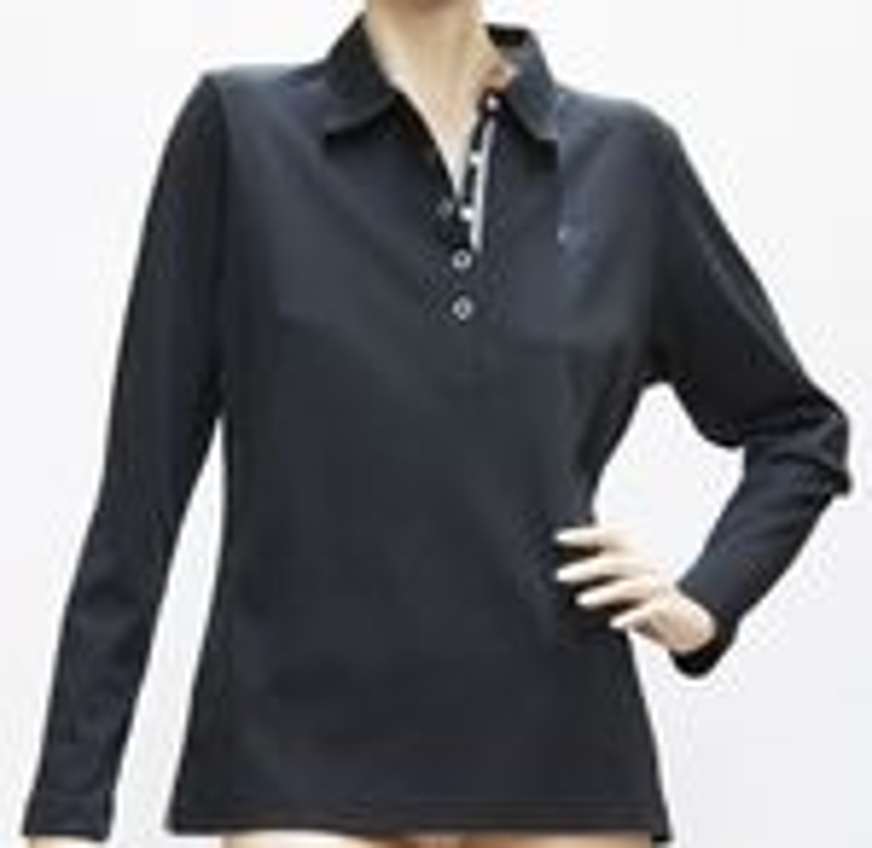 Hajo Shirt Langarm, Poloshirt mit Köpfen - Baumwolle/Microfaser  stay fresh  - viele Farben