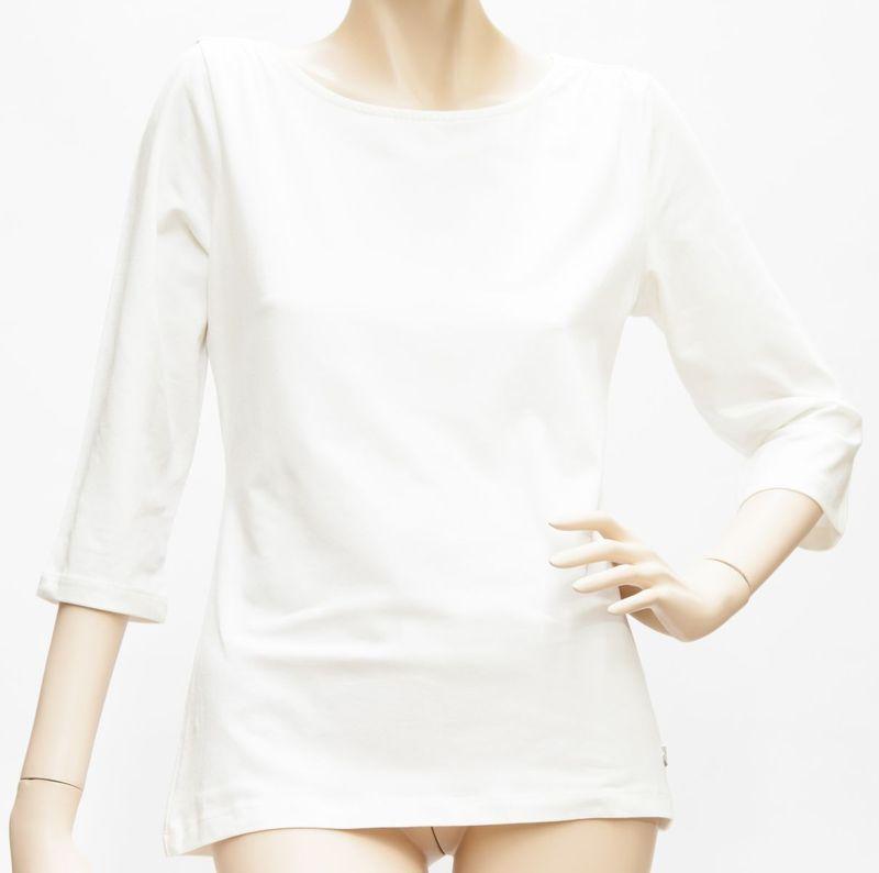 Shirt 3/4 Arm, Rundhals, Schulterraffung - Baumwolle / Modal - viele Farben - 36 - 48, 1057