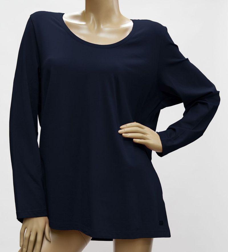 Shirt Langarm, Rundhals - Baumwolle / Modal - viele Farben - 42 - 56, 1058