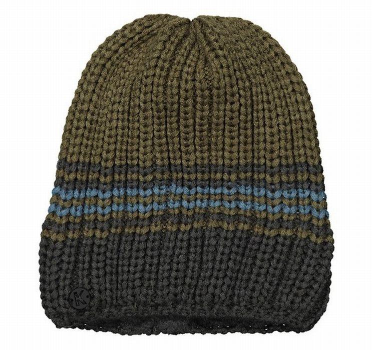 Kunert - Herren Mütze, Haube Rippenstrick, Streifen - mit Fleece-Stirnband