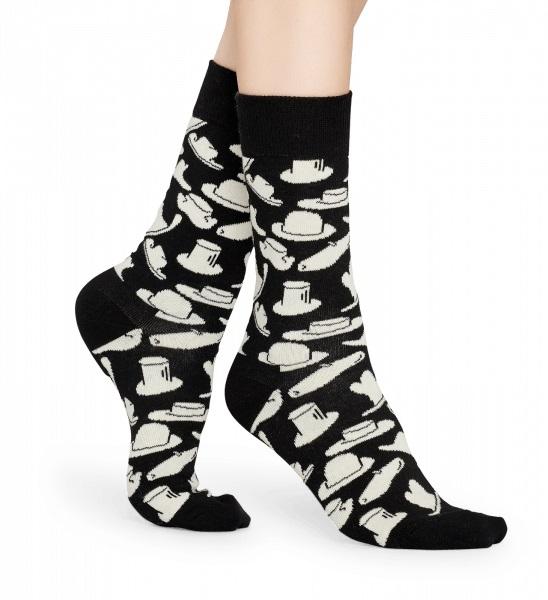 Happy Socks - Socken - Hat Sock, Hüte - schwarz / weiss - HAT01-9100