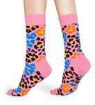 Happy Socks - Socken - Multi Leopard Sock, Leopardenmuster - rosa / bunt - MLE01-3300