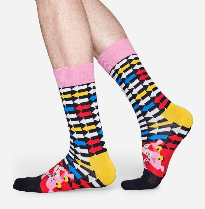 Happy Socks - Socken - Pink Panther, Jet Pink, Pfeile - rosa / bunt - PAN01-6300
