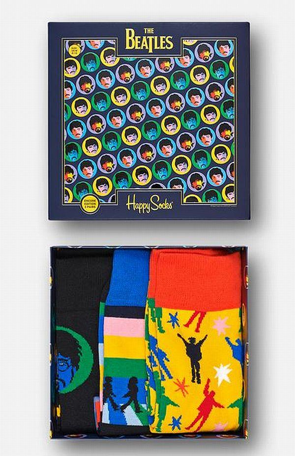 Happy Socks - Gift Box, Geschenkbox 3er The Beatles - bunt / bunt - XBEA08-0100