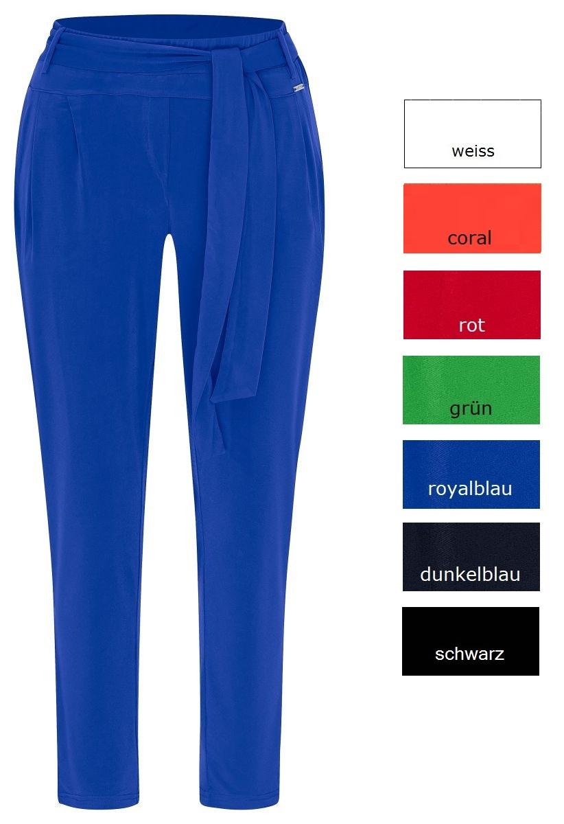 Mekstone Hilma - Hose Microfaser, Slinky, Taschen, elastischer Bund, schmale Beine, bequemer Bauch - KURZ - viele Farben - 34 bis 48/50