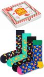 Happy Socks - 4er Pack Gift Box, Geschenkbox - Junkfood, Pizzaschachtel - bunt - XFOD09-0100