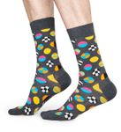 Happy Socks - Socken - Clashing Dot Sock, Bälle - grau / bunt - CLD01-9700