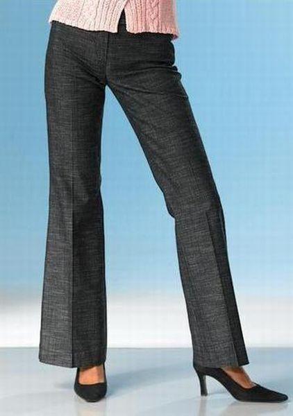Hose Jeanslook, anthrazit