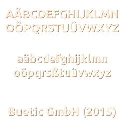 Holz Buchstaben - Ubuntu - Wunschtext/Schriftzug mit Größenauswahl 001