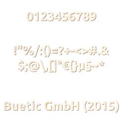Holz Zahlen - Ubuntu - inkl. Satz- und Sonderzeichen - Größenauswahl