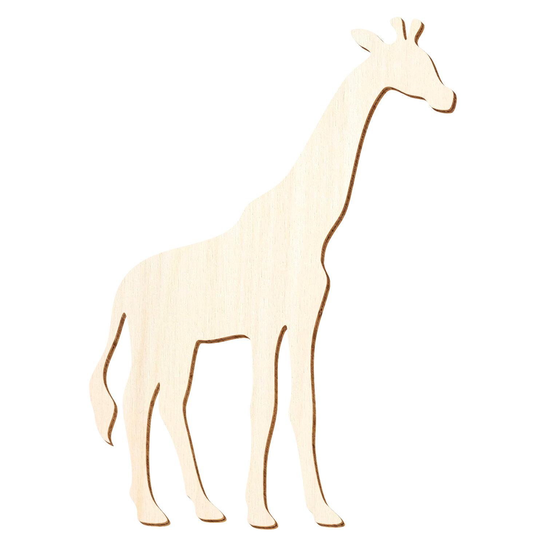 Holz Giraffe V1 - 3-50cm Höhe - Basteln Deko