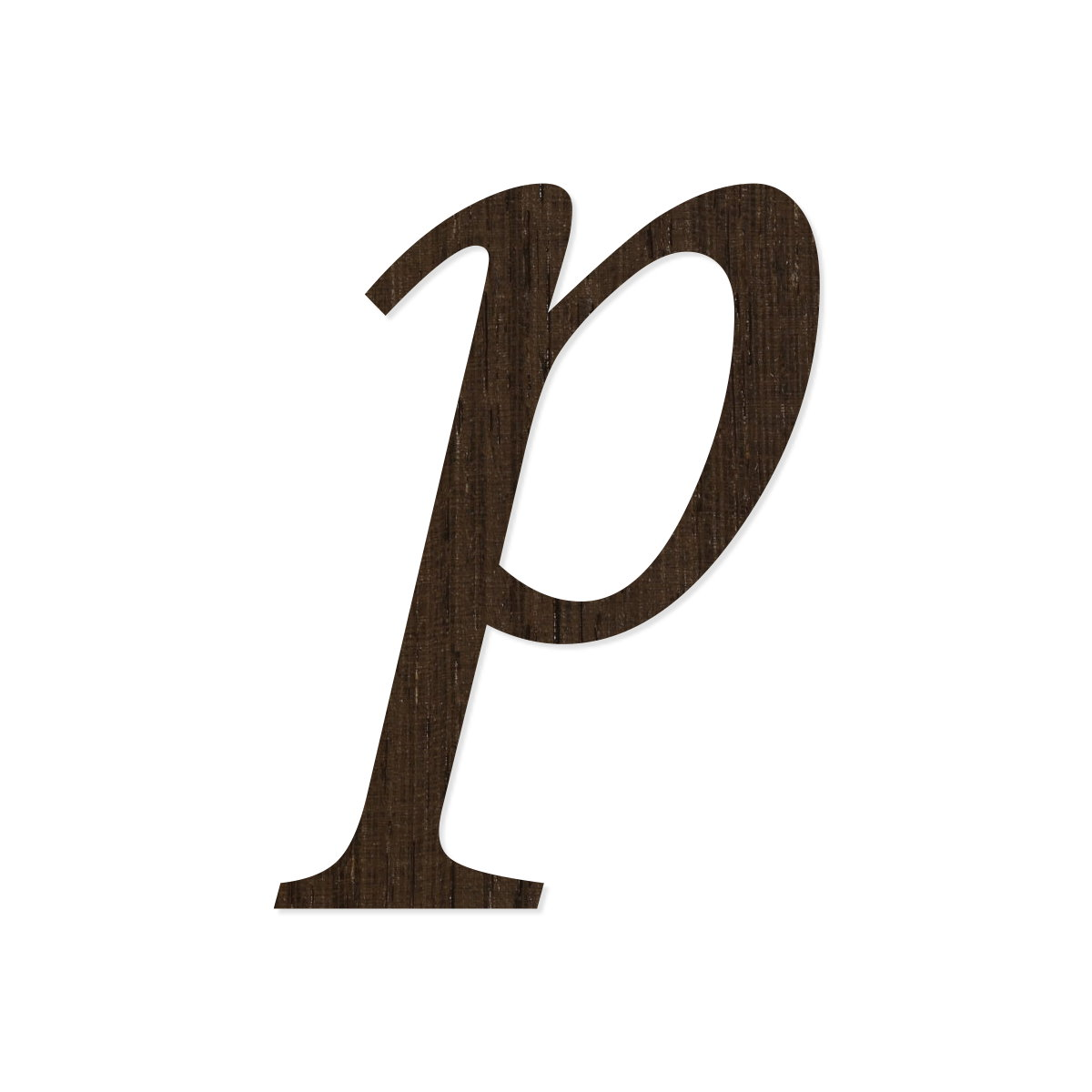 Schriftzug aus dunklem Wenge-Echtholzfurnier Holz-Furnier Buchstaben Magnolia