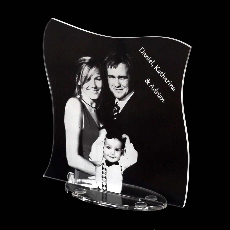 Plexiglas® Acrylfoto Fotogravur Lasergravur - ihr Bild + Schriftzug