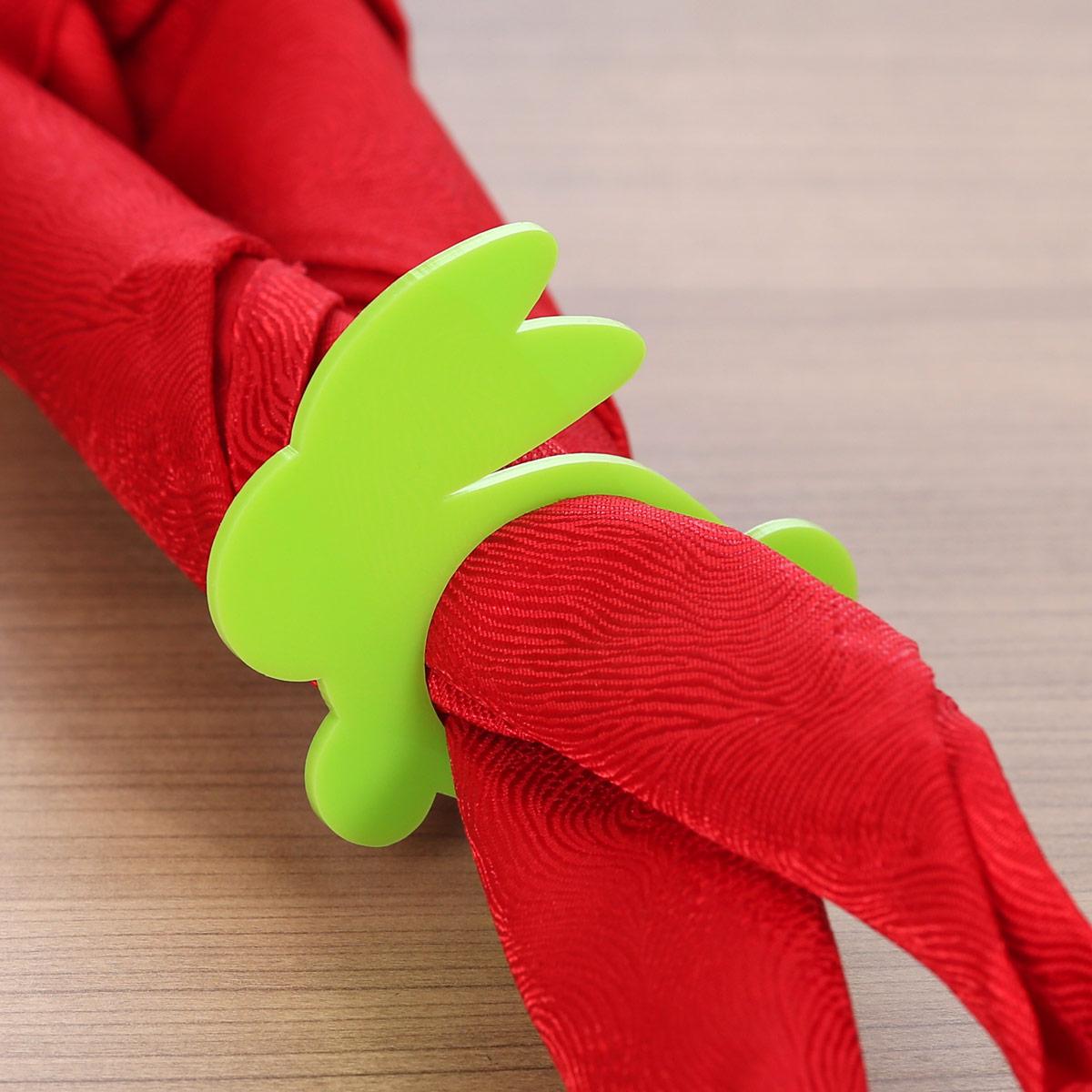 Plexiglas® 6er Sets Serviettenringe weiß grau creme gelb grün Serviettenhalter