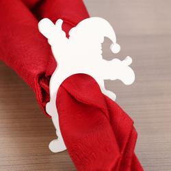 Plexiglas® 6er Sets Serviettenringe weiß grau creme gelb grün Serviettenhalter – Bild 18
