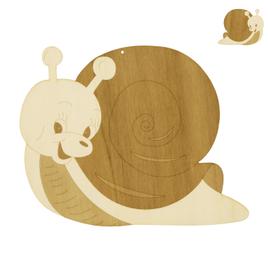 Fensterbild / Wandbild Deko süße Schnecke aus Holz beidseitig graviert