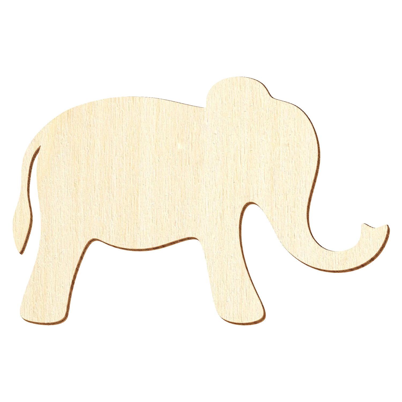 Einfacher Holz Elefant - Deko Zuschnitte Größenauswahl