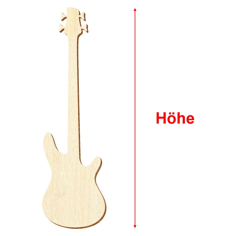Deko Zuschnitte Größenauswahl Holz E-Gitarre