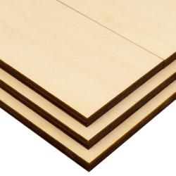 Bastelsperrholz Birke Zuschnitt 2x 340x260mm + 2x 340x130mm - Stärke auswählbar 001