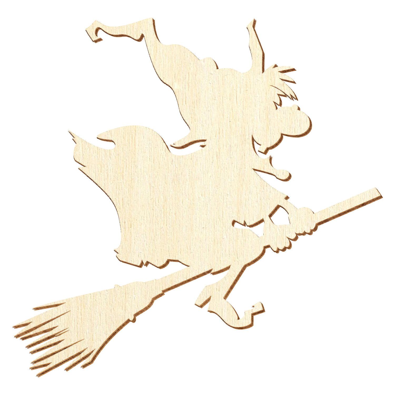 Fliegende Holz Hexe Deko Zuschnitte Größenauswahl