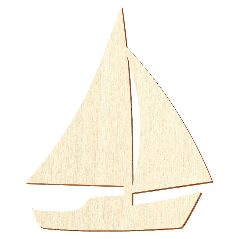 Holz Segelboot - Deko Basteln 3-50cm