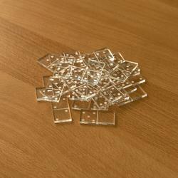 Mini Acrylglas Domino Spielset mit Box - Farbauswahl mit 28 oder 55 Dominosteinen – Bild 2