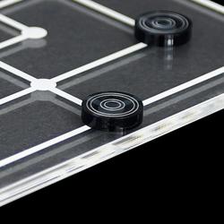 Mini Mühle Spiel 19tlg. aus transparentem Acryl klar und grau, Spielbrett per Laser graviert – Bild 3