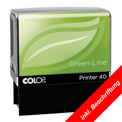 COLOP Green Line Printer Stempel optional mit individuell gelasertem Stempeltext - in verschiedenen Größen – Bild 6