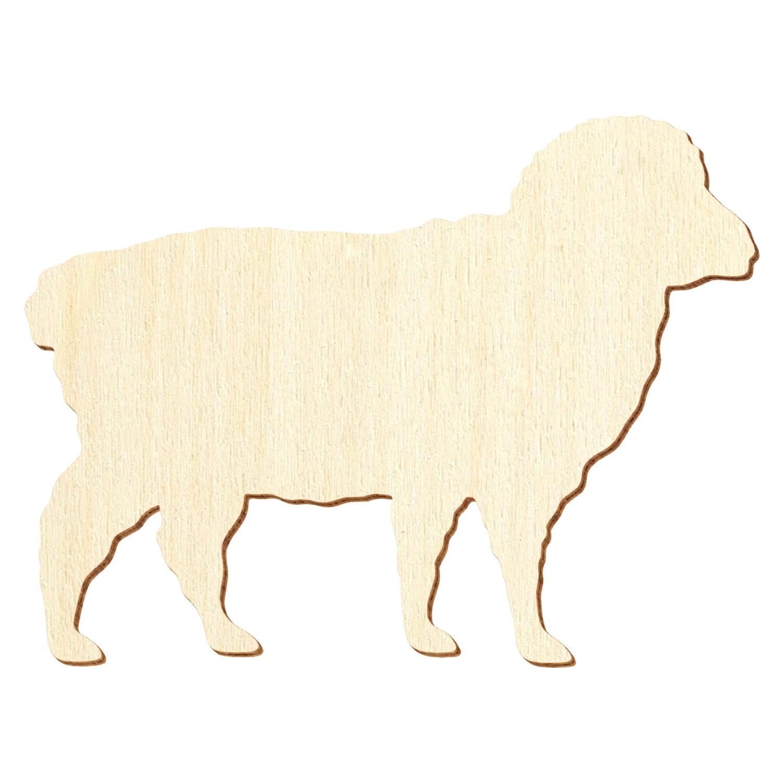 Holz Schaf Deko Basteln 3-50cm