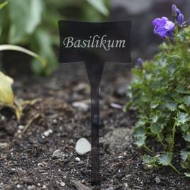 Acrylglas Pflanzschilder Slave grau transparent - Gartenstecker, Kräuterschilder, Pflanzenstecker - Auswahl + Wunschname