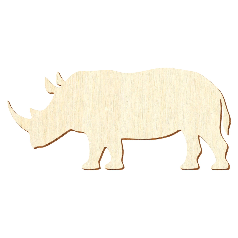 Holz Nashorn - Deko Basteln 3-50cm