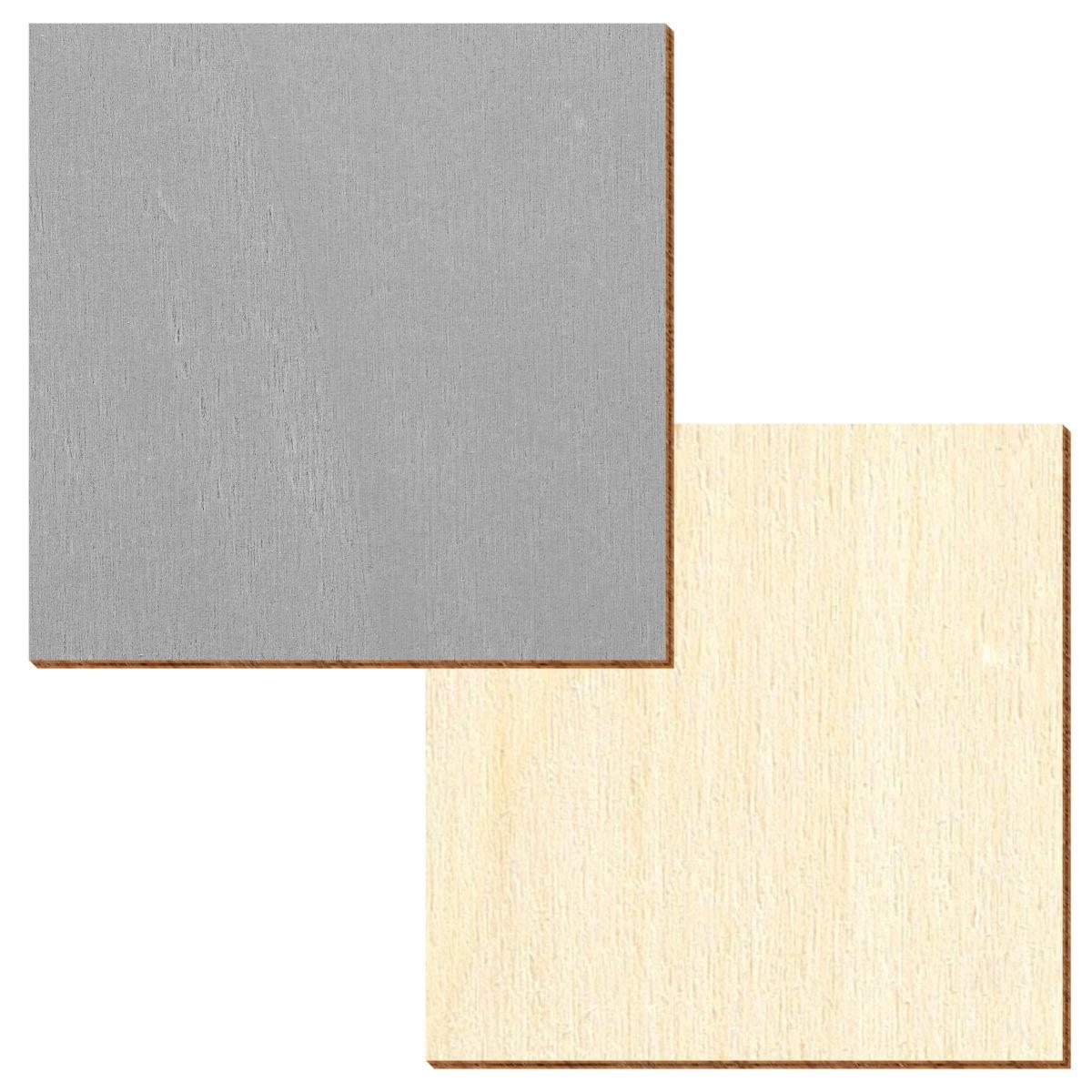 Holz Quadrate 1-50cm -Multiauswahl- Vierecke unbehandelt farbig selbstklebend