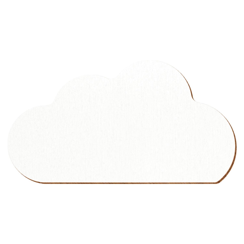 Weiße Holz Wolke V2 - 3-50cm Deko Basteln