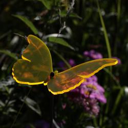 Acrylglas Sonnenfänger Schmetterling 14cm neon transparent fluoreszierend – Bild 2