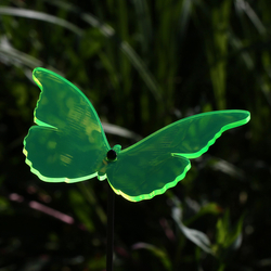 Acrylic glass Suncatcher butterfly 14cm neon transparent fluorescent curved with 100cm rod - color selection - Suncatcher