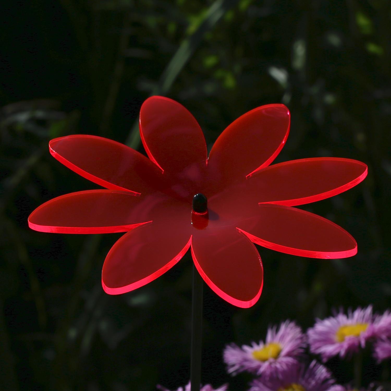 Plexiglas® Sonnenfänger Blüte Blume 14cm neon transparent fluoreszierend