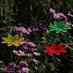 Acrylglas Sonnenfänger Blüte Blume 14cm neon transparent fluoreszierend – Bild 6