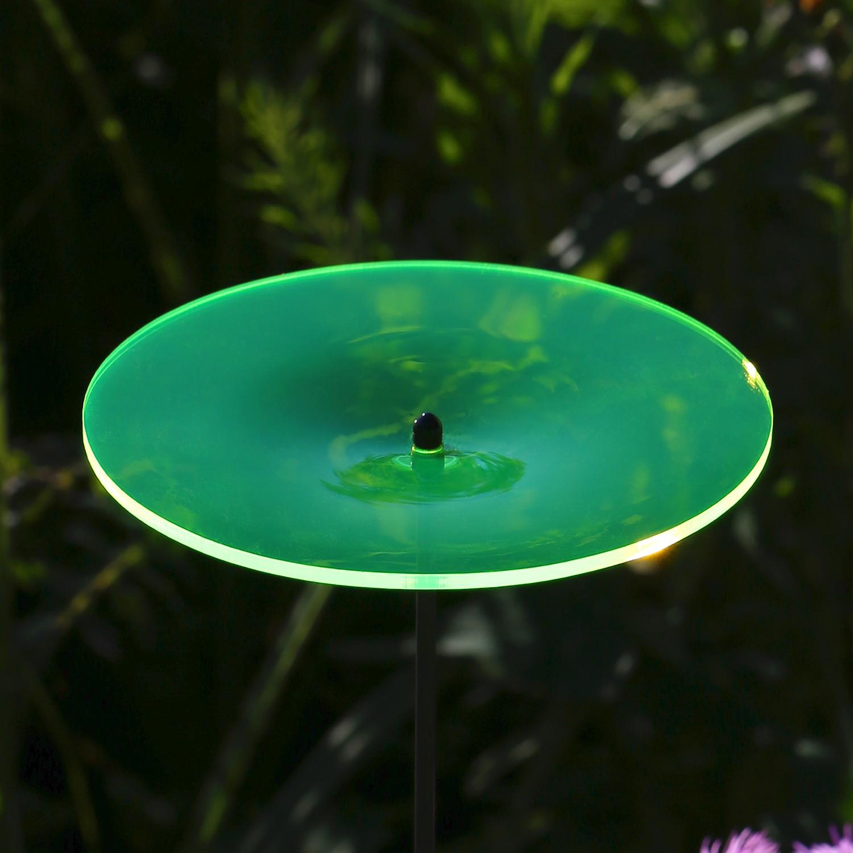 Plexiglas® Sonnenfänger Scheibe 14cm neon transparent fluoreszierend