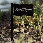 Acrylic glass plant signs flag black - many plant names or own text - weatherproof and elegant, herbs signs, plant plugs