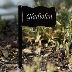 Acrylglas Pflanzschilder Fahne schwarz - Auswahl + Wunschname - Gartenstecker, Kräuterschilder, Pflanzenstecker – Bild 11